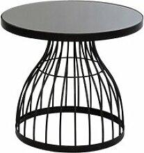 Table appoint kushi 55 cm verre métal atmosphera