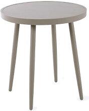 Table auxiliaire de jardin ronde en aluminium