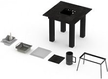 Table barbecue intégré classique garrigue pro