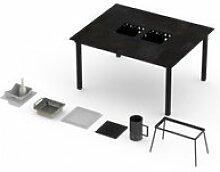 Table barbecue intégré garrigue 4-6 personnes -