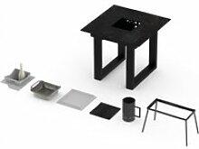 Table barbecue intégré vulcano 2-3 personnes -