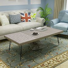 Table basse 120 x 60 x 38 cm gris - Topdeal
