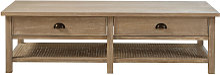Table basse 2 plateaux 4 tiroirs
