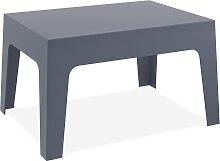 Table basse 'MARTO' gris foncé en