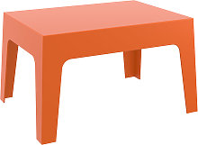 Table basse 'MARTO' orange en matière