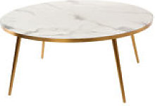 Table basse / Ø 80 x H 35 - Aspect marbre - Pols