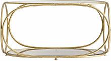 Table basse art déco verre et métal doré Ruthie