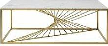 Table basse Art effet marbre 140x70cm Kare Design