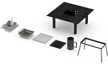 Table basse avec barbecue garrigue 2-3 personnes -
