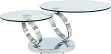 Table basse avec plateaux pivotants JOLINE - Verre