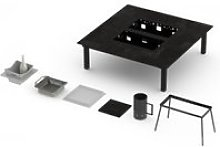 Table basse barbecue garrigue 6-8 personnes -