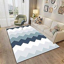 Table Basse Blanc Tapis De Salon Moderne Abstrait