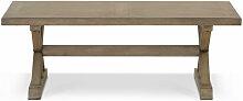 Table Basse Bois Marron 130x70x45cm - Décorations