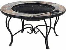 Table basse braséro avec plateau céramique