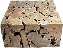 Table Basse carré 80 cm en Racine de Teck -