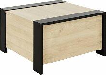 Table basse carré avec rangement bar L78cm -