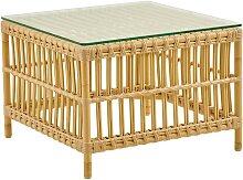 Table basse carrée en alu et fibre synthétique