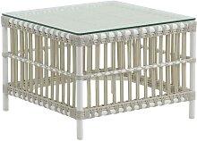 Table basse carrée en aluminium et fibre