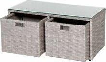 Table basse coffre cuba coloris grège hespéride