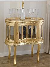Table basse Coloniale haricot vitrine bar casier