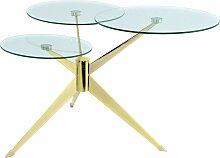 Table basse composé 3 plateaux verre structure