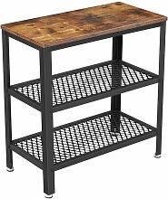 Table basse d'appoint console 3 niveaux marron