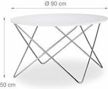 Table basse d'appoint ronde diamètre 90 cm