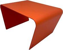 Table basse de jardin aluminium orange L68xl49cm