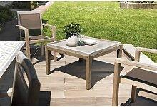 Table basse de jardin carrée béton 83x83 cm