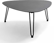 Table basse de jardin en aluminium et acier noir