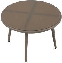 Table basse de jardin en aluminium taupe IberoDepot
