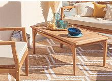 Table basse de jardin en bois de teck Adira bois