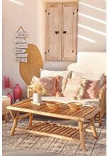 Table basse de jardin en bois de teck Narel Marron