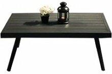 Table basse de jardin moderne en aluminium et