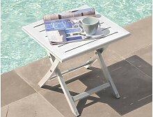 Table basse de jardin pliante en alu - Marius