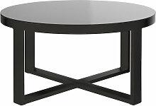 Table basse de jardin ronde en aluminium et verre