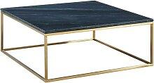 Table basse design ARETHA - Marbre & Métal - Noir