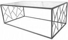 Table basse design triangles métal art de fer