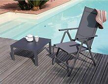 Table basse en aluminium Cortes 60 cm Gris - Gris