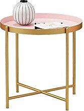 Table basse en métal avec pieds de chaises de