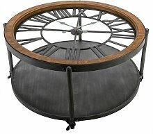 Table basse Horloge Chrono - Atmosphera - Naturel