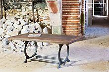 Table basse industrielle Tonnel