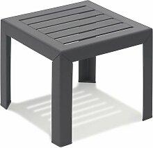 TABLE BASSE MIAMI 40X40X35 coloris anthracite -