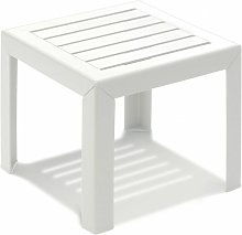 TABLE BASSE MIAMI 40X40X35 coloris blanc - blanc