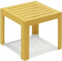 TABLE BASSE MIAMI 40X40X35 coloris jaune indien -