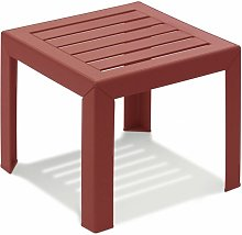 TABLE BASSE MIAMI 40X40X35 coloris rouge bossa