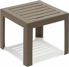 TABLE BASSE MIAMI 40X40X35 coloris taupe - taupe