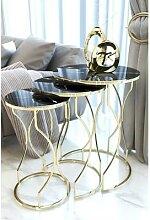 Table basse miroir ovale ronde, pour salon, table
