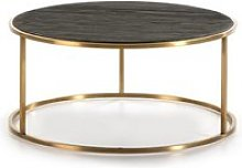 Table basse moderne en bois brun woody