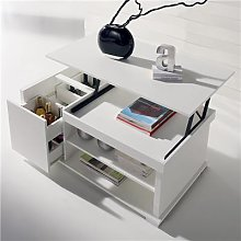 Table basse modulable blanche design AUDE 2